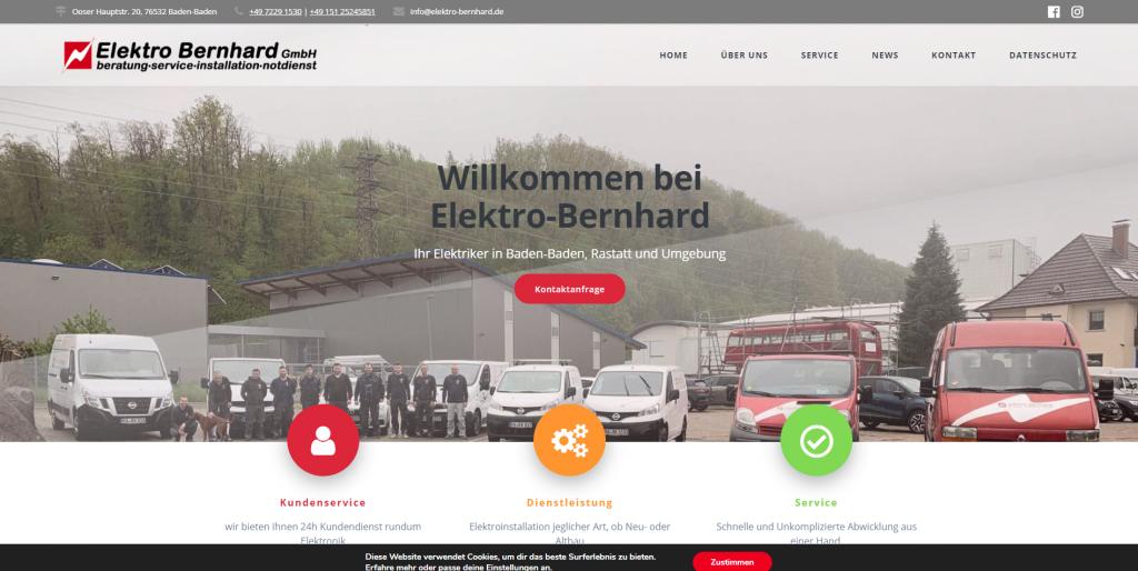 Webdeisgn Elektro Bernhard